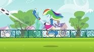 Rainbow Dash energetic soccer kick EG