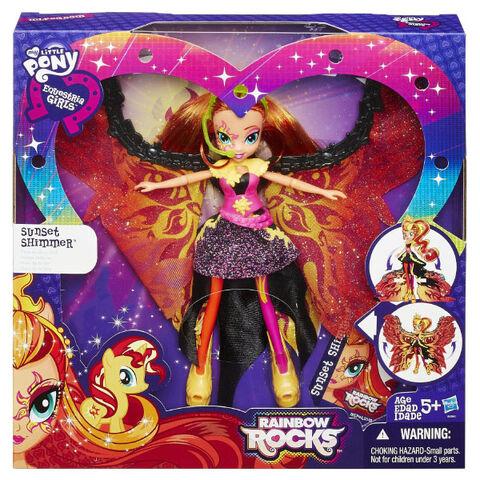 Archivo:Rainbow Rocks Sunset Shimmer Time to Shine doll packaging.jpg
