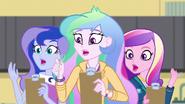 Celestia, Luna, and Cadance drop their forks EG3