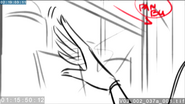 EG3 animatic - Sci-Twi's hand brushing the glass