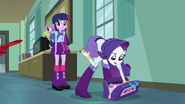 Rarity rifling through her bag EG