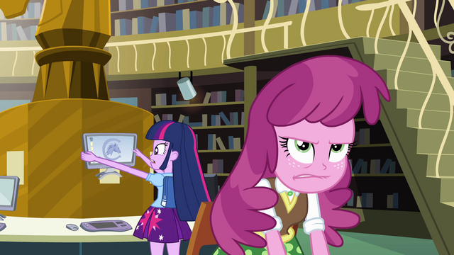 File:Clueless Twilight and frustrated Cheerilee EG.png