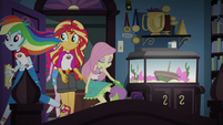 Sunset and friends enter Sci-Twi's room EG4