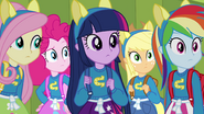 Twilight and friends wearing pony ears EG