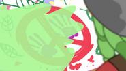 Paint spills on Sandalwood's side of the banner EG3