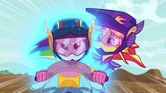 Rainbow Dash starting to glow EG3