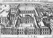 The Palais Cardinal (future Palais Royal, Paris) by an unknown artist (adjusted)