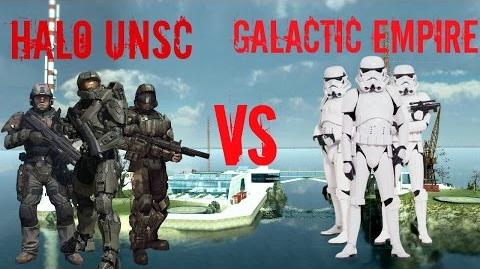 Garry's Mod NPC Wars Halo UNSC vs Star Wars The Galactic Empire