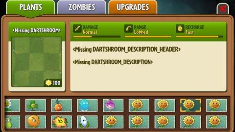 Dart-shroom - Scrapped Dark Ages Plant - Plants Vs. Zombies 2 It's About Time