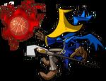 Mario Slam Basketball Mago Negro
