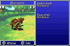 Estadisticas Alosaurio 2