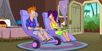 El viaje de amor de Fry y Leela