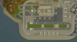 Mapa aeropuerto de Los Santos