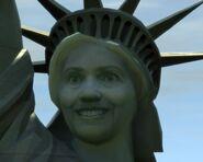 Cara de la estatua