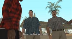 Los Apostantes en la mision de Madd Dogg