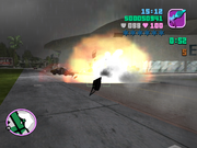 GTA VC Masacre destrucción vehículo.PNG