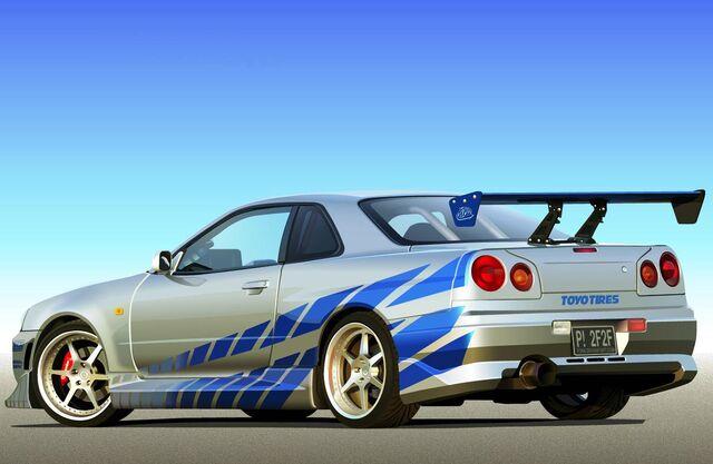 Archivo:2-Fast-2-Furious-Brian-OConners-Skyline-R34-GT-R-Rear-Left.jpg