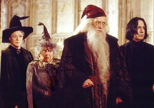 Dumbledore, McGonagall, Sprout y Snape.jpg