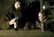 Hagrid y Slughorn