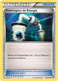 Carta Interruptor de energía