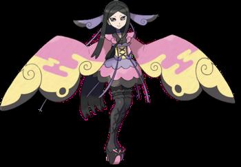 <i>Ilustración de Valeria en Pokémon X y Pokémon Y</i>