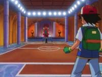 Campo de batalla del Gimnasio de Azafrán en el anime