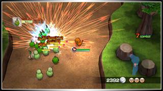 Archivo:Combatiendo con Pokémon en Melee! Pokémon Scramble!.png