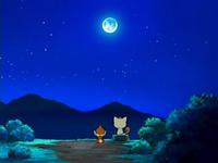 Archivo:EP522 Chimchar hablando con Meowth bajo la luz de la Luna.png