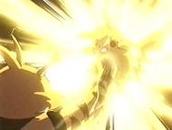 EP105 Electabuzz golpeando a Pikachu