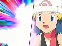 EP575 Dawn asombrada de que su pokémon evolucione.jpg