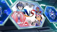 EP934 Pantalla del combate de Ash y Alain (2)
