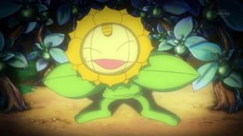 Archivo:EP606 Meowth disfrazado de Sunflora.png