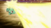 EP846 Bulbasaur de xana usando rayo solar