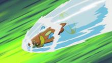 EP628 Buizel usando acua jet