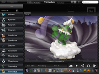 Pokédex for iOS (iPad) Tornadus