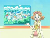 Archivo:EP524 Marian anunciando el concurso Pokémon de pueblo Sosiego.png