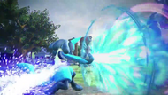 Lucario atacando (2) Pokkén Tournament