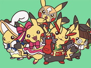Dibujo de Pikachu coqueta