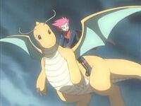EP374 Lance volando sobre Dragonite