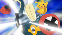 EP787 Pikachu usando cola férrea contra Eelektrik.png