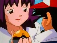 EP085 Profesora Ivy entrega la GS Ball a Ash