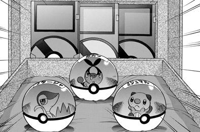 Archivo:Black eligiendo a su pokémon starter.png