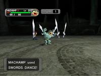 Machamp usando danza esppada