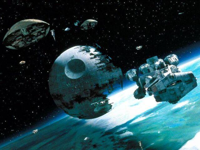 Archivo:Guerra espacial, sobre Endor.jpg
