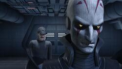 Kassius y El Inquisidor hablando de los Rebeldes