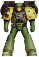 Guerreros Mantis Hermano Zenobus Servoarmadura Mark VI Corvus Asalto Marines Espaciales Astartes Wikihammer