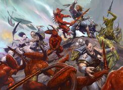 Los Wulfen atacan a los Demonios