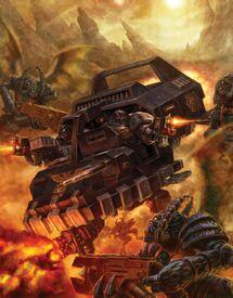 Guardianes de la Muerte Land Speeder Lanzallamas Pesado Aguijones Alados de Vespid Cruzada de Achilus Ordo Xenos Wikihammer