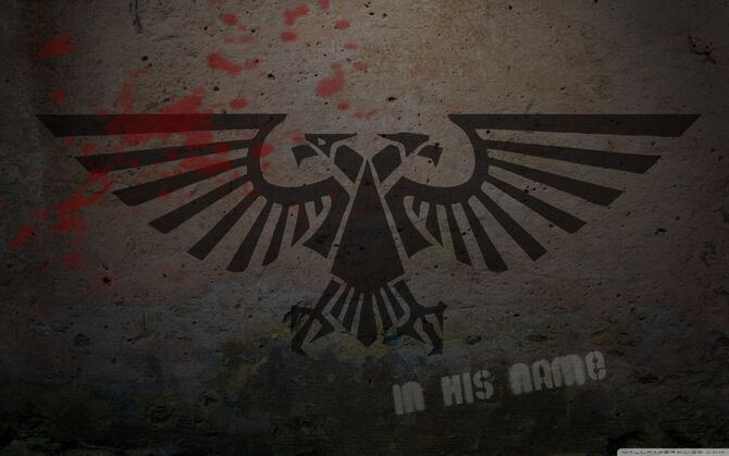 Warhammer 40k logo graffiti-wallpaper-1440x900