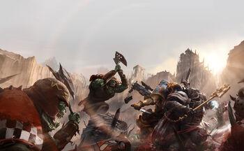 Portada Armageddon Líder de Manada Ekene Dubaku Leones Celestiales Capellán Merek Grimaldus Templarios Negros.jpg